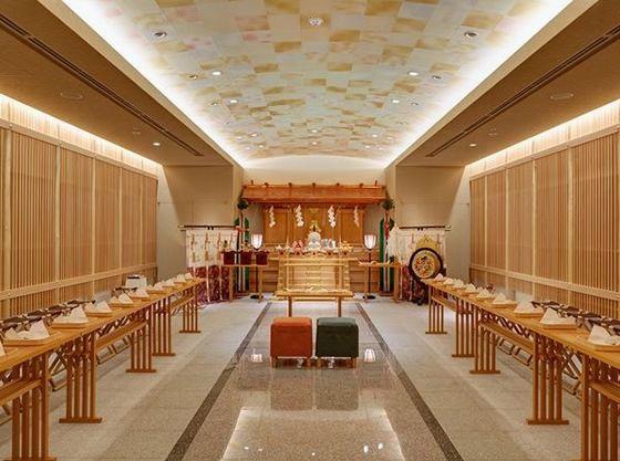 2014年8月にリニューアル!モダンな神殿での神前式も素敵