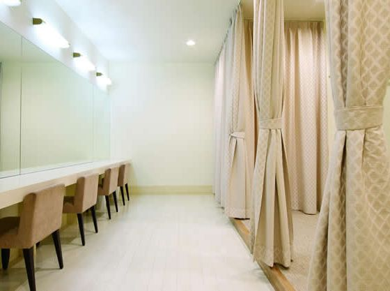 ゲスト専用の更衣室も完備!