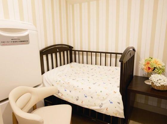 おむつ替えや授乳スペースもありお子様連れのゲストも安心