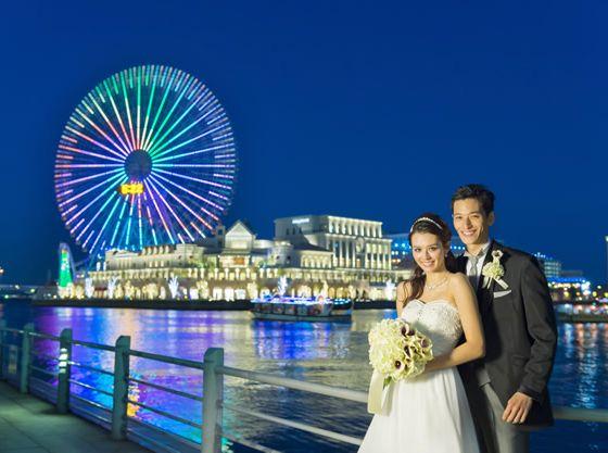 観覧車を見れば、ふたりの結婚式を思い出す最高のロケーション