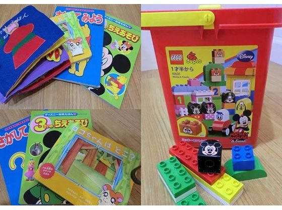 こどもが自由に遊べるグッズ(LEGOブロック、絵本)も完備!