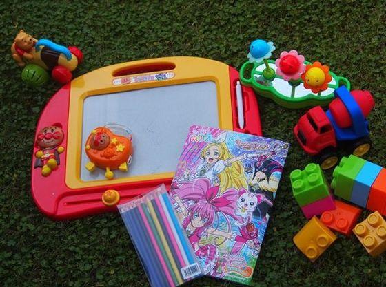 お子さまが喜ぶおもちゃの準備もあります