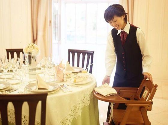 お子様ゲストも楽しく食事を楽しめるうよう配慮した設備