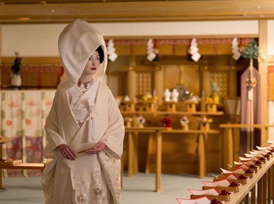 趣漂う神殿での神前挙式も叶います