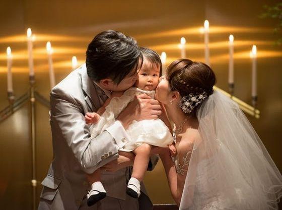 お子様と一緒の結婚式。ラリアンスならではの挙式をご提案します。