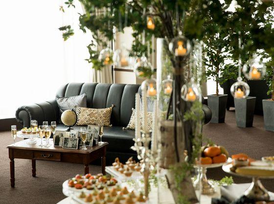 4Fのウェルカムパーティは、サイフォンコーヒーや県産シードルでおもてなし。