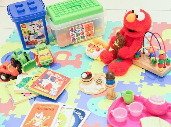 お子様が退屈しないようにたくさんのおもちゃたちがお出迎え♪