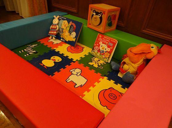 会場前の前室にお子様専用のキッズルームも作れます