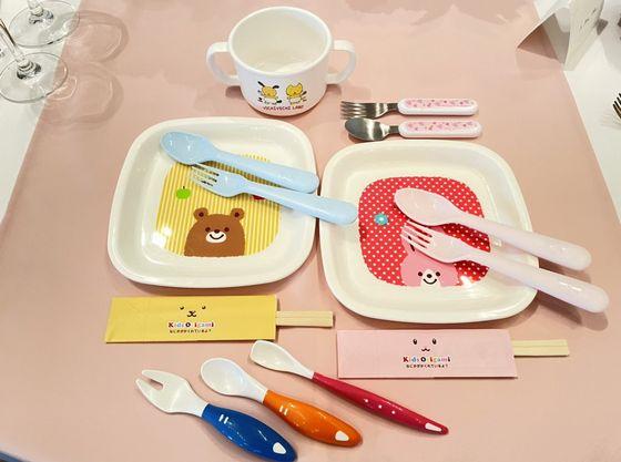 お子様用のお料理には安心・安全の可愛い食器で食事も楽しく!