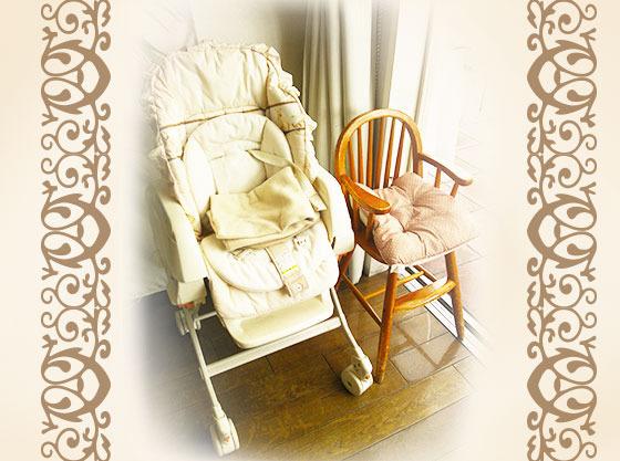 お子様椅子やベビーベッドの貸し出しもあり、安心です。