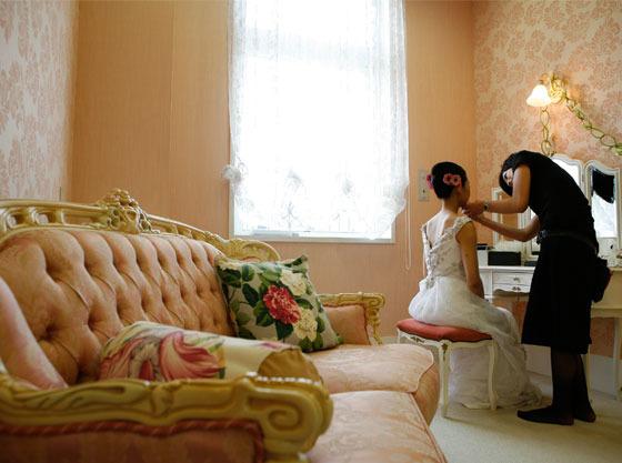 ブライズルームも広く、お子様が過ごせる空間があります。