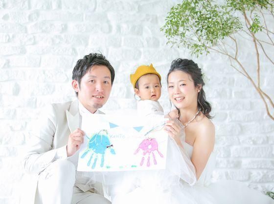 結婚証明書は「お子様の手形」で一生の記念に。