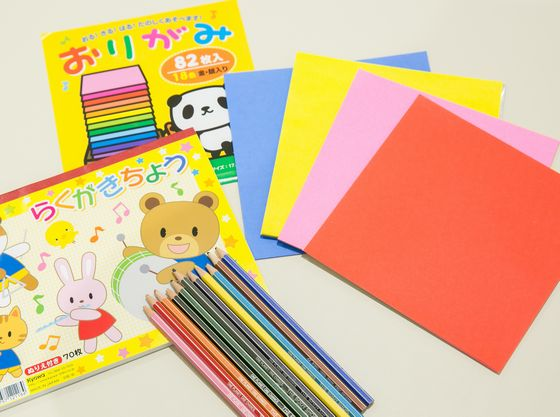 おもちゃや絵本など、お子様が飽きない為のグッズをご用意!