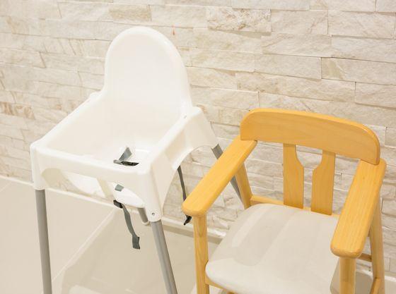 お子様椅子ももちろん用意可能