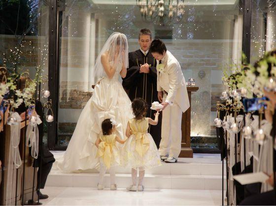子供が参加している自分たちの結婚式は感動です!
