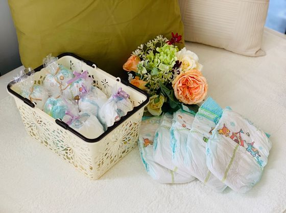お子様用のおむつも用意しているから、少ない荷物でも安心。