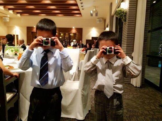 こどもカメラマンも大活躍