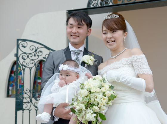 3人笑顔で記念撮影&ゲストのみんなへご挨拶!!