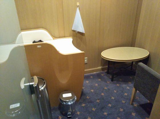 ホテル内にある授乳室