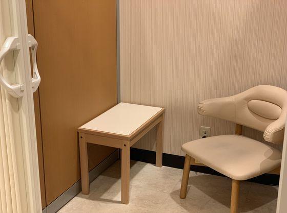ホテル館内には調乳設備の整った授乳室も完備