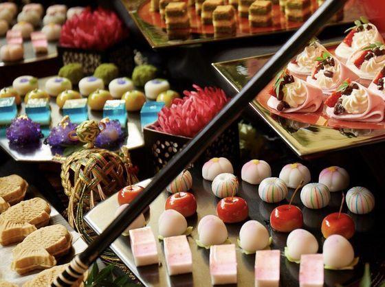 美翔苑ならではの【和菓子ビュッフェ】も可能